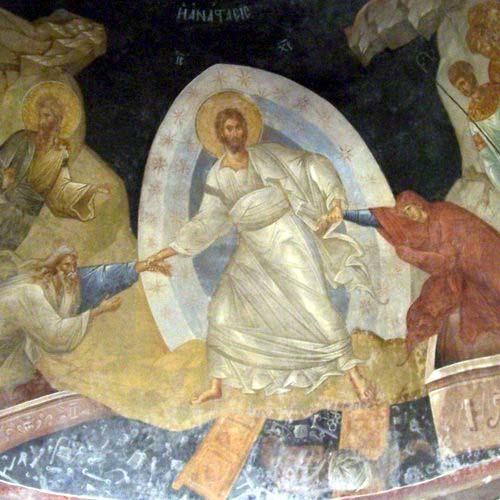 fresco San Salvador en Chora